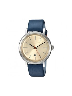 Men's Watch Blue Leather Band With Beige Dial TE15062001