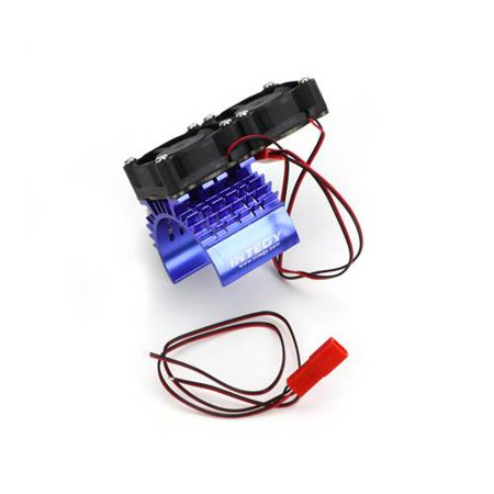 Integy RC Toy Model Hop-ups C23139BLUE Super Motor Heatsink+Twin Cooling Fan (Toyo Fan)