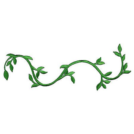 Lily Green Embroidered Plant Stem Vine Patch Iron on Applique Decoration by pc