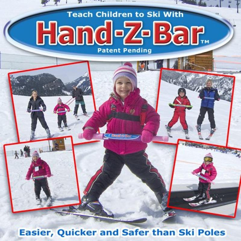 HAND-Z-BAR Kids Downhill Ski Trainer to Learn Beginner Alpine Skiing by GeoSpace