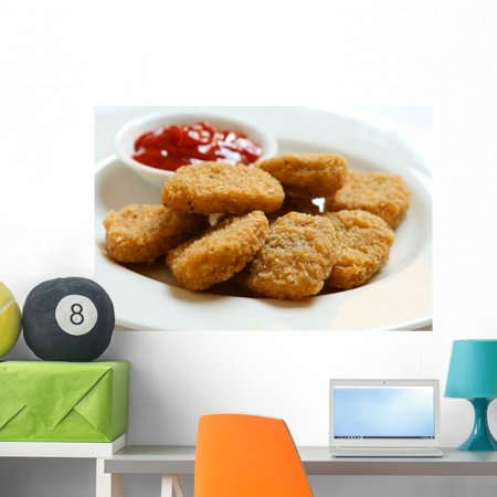 Chicken Nuggets Wall Mural By Wallmonkeys Peel And Stick Graphic 36 In W X 23 In H Wm60993