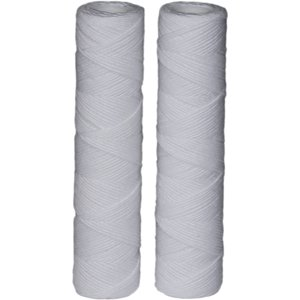 EcoPure EPW2S String Wound Whole House Replacement Water Filter, Universal Fit, Fits Most Major Brand Systems (2 pack)