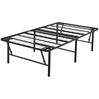 """Mainstays 18"""" High Profile Foldable Steel Bed Frame, Powder-Coated Steel"""