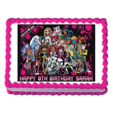 Monster High Edible Cake Decorations (MONSTER HIGH edible party decoration cake topper cake image frosting)