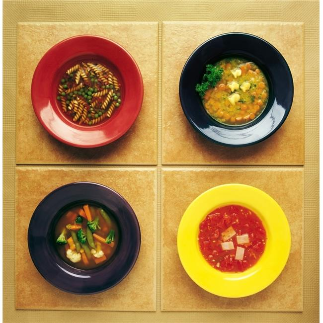 Posterazzi DPI1801548 Four Plates of Different Foods Poster Print by Ron Nickel, 14 x 14