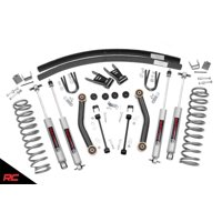 """Rough Country 4.5"""" Lift Kit compatible w/ 1984-2001 Jeep Cherokee XJ Fixed Arm Kit includes N3 Shocks"""