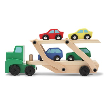Melissa & Doug Car Carrier Truck & Cars Wooden Toy