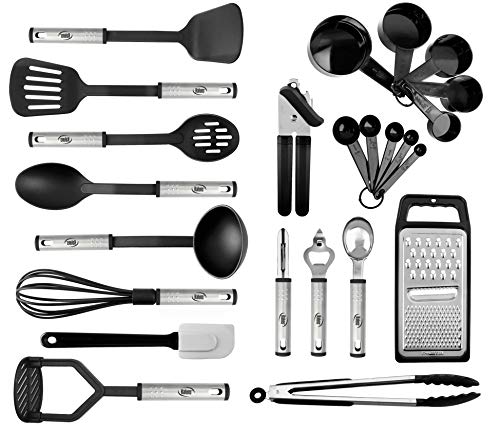 Details about  /Kitchen Silicone Stainless Steel Cooking Utensils Non-stick Heat Resistant Tool