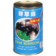Premium Quality Roxy Whole Peeled Straw Mushrooms, 15 oz