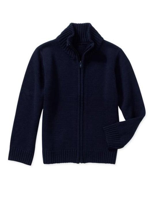 GEORGE George Boys School Uniform Zip Up Mock Neck Sweater (Little Boys & Big Boys)