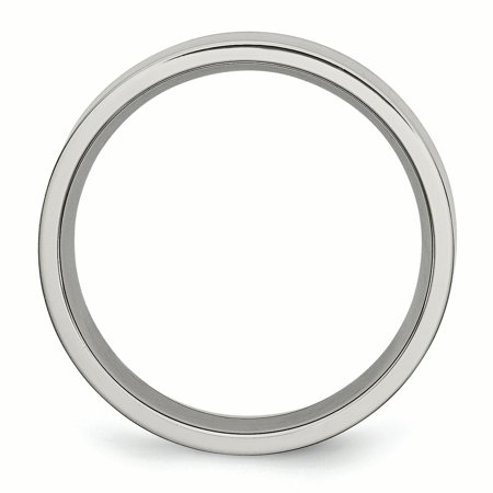 Titanium Flat 6mm Brushed Band Ring 13.5 Size - image 2 of 6