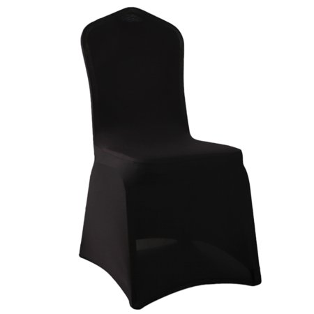 Zimtown 50pcs Folding Chair Covers Polyester Spandex Stretch Slipcovers for Wedding Party Banquet Chair Decoration Covers,Black - image 4 de 4