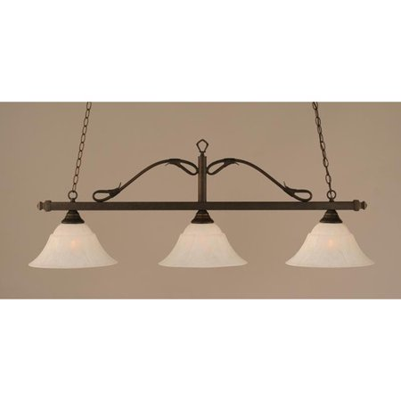 (Red Barrel Studio Newberry 3-Light Wrought Iron Rope Kitchen Island Pendant)
