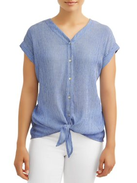 e67f15474c5 Product Image Women's Lightweight Tie Front Top