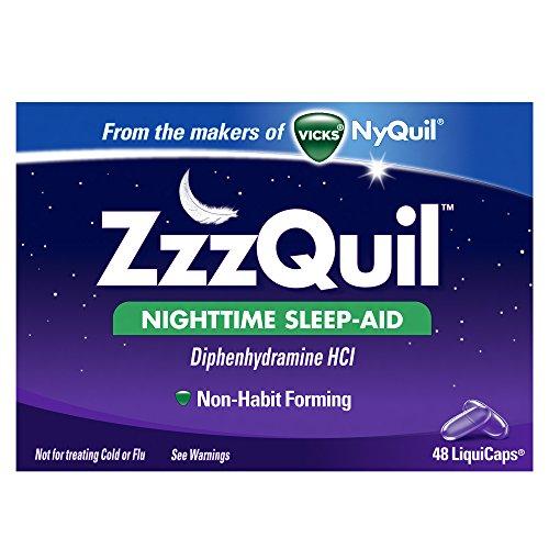 Zzzquil Nighttime Sleep-aid Liquicaps 48 Count Each