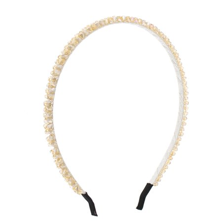 Girl Apricot - Unique BargainsPlastic Braid Slim Metal Hair Hoop Headband Apricot for Girls