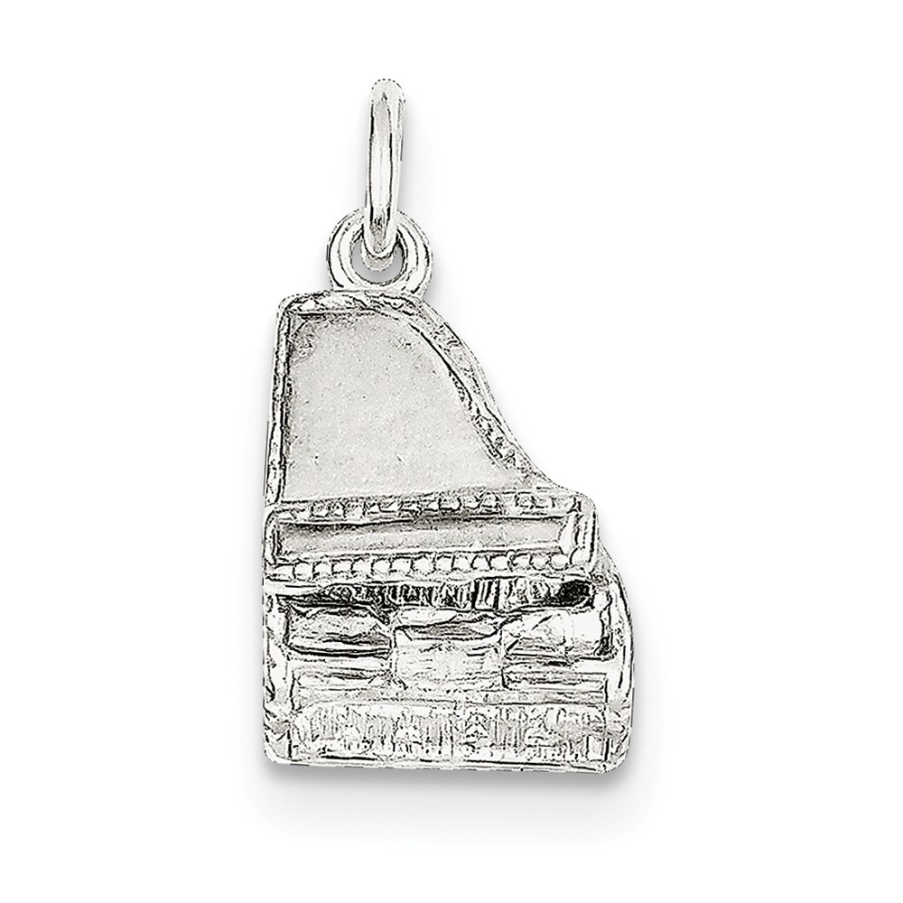 Sterling Silver Grand Piano Charm (0.7in long x 0.5in wide)