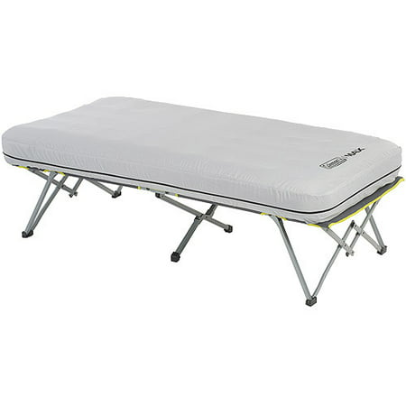 Coleman Twin-Sized Pack-A-Way Airbed Cot with 4D Battery Powered Air Pump The Coleman Twin-Sized Pack-A-Way Airbed Cot with 4D Battery Powered Air Pump provides the comfort of an airbed along with the benefit of being above the ground. It is ideal for camping and other outdoor activities.