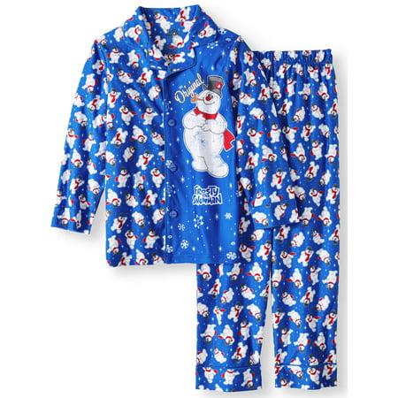 Frosty the Snowman Boys 'Original Frosty' Coat Front Pajama Set (Little Boys & Big Boys)