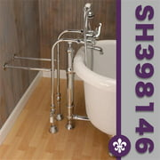 Cambridge Plumbing CAM398463 BN Clawfoot Tub Freestanding British Telephone  Faucet Hand Held Shower Combo Combos