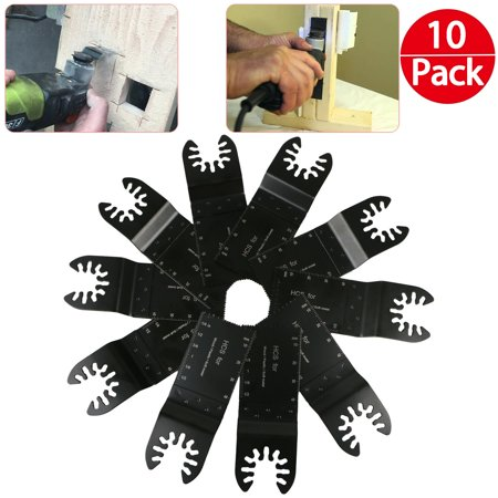 TSV 10 Pcs Mixed Universal Multitool Blades, Oscillating Tool Blades Quick Release Saw Blades for Metal/wood/plastic, Compatible with Most of Oscillating