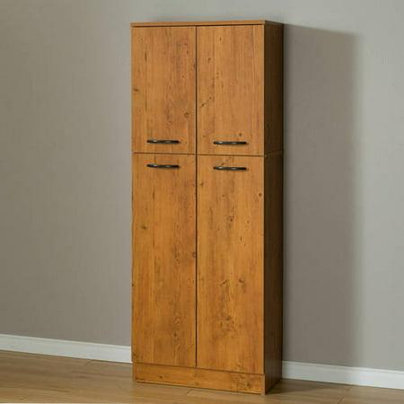 South Shore Smart Basics 4-Door Storage Pantry, Multiple Colors