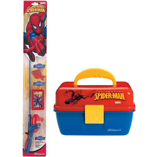 Kids Shakespeare Spiderman Complete Fishing Bundle