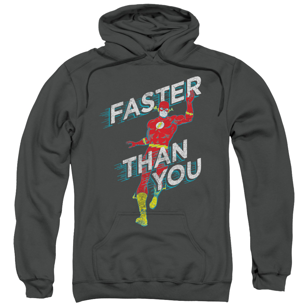 The Flash DC Comics Superhero Faster Than You Adult Pull-Over Hoodie