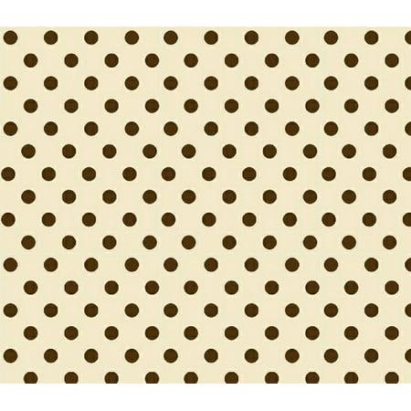 Sheetworld Ed Pack N Play Graco Sheet Brown Polka Dots Cream Woven