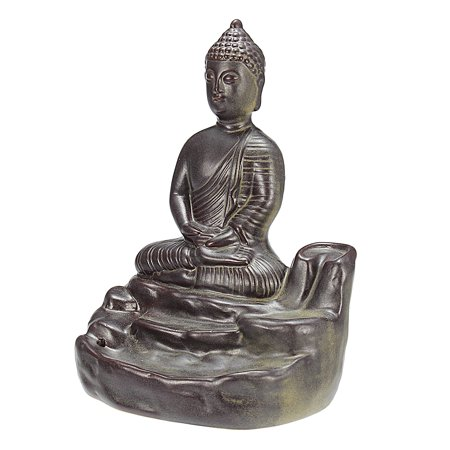 Home Buddha Incense Burner Holder Buddhist Statue Smoke Backflow Cone Censer Gifts - image 7 de 7