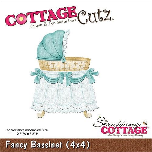 "CottageCutz Die, 4"" x 4"", Fancy Bassinet"