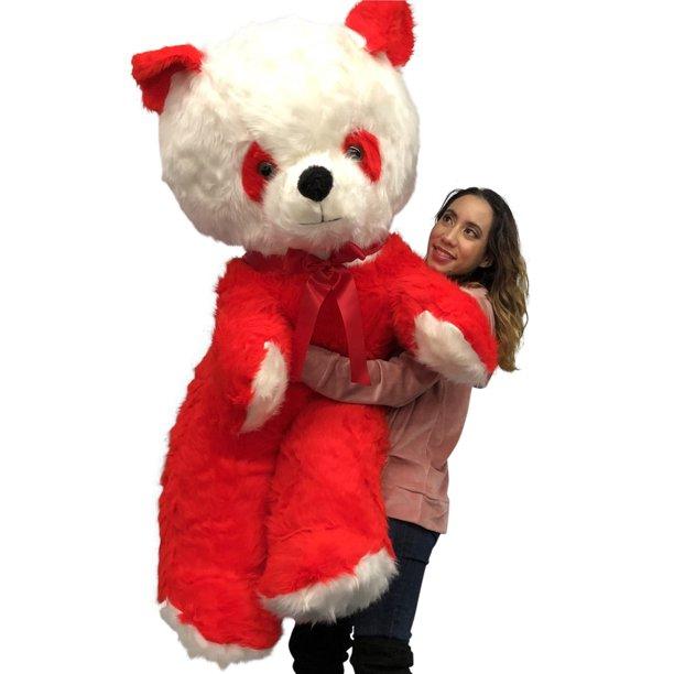 Baby Net For Stuffed Animals, Big Plush Red And White Stuffed Panda Bear Giant 6 Foot Teddy Bear Huge Soft Plush Animal Made In Usa Valentine Big Bear Walmart Com Walmart Com