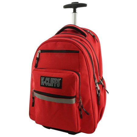 K Cliffs Heavy Duty Rolling Backpack School With