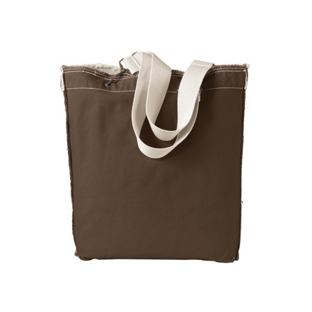 A Product of Authentic Pigment 14 oz. Direct-Dyed Raw-Edge Tote - JAVA - OS [Saving and Discount on bulk, Code Christo] (Edge Tote)