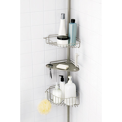Bath Storage Caddy, Satin Nickel Finish