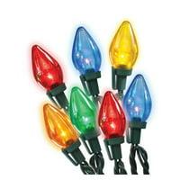 Inliten-Import 2733-88A Christmas LED Light Set, C7, Multi Transparent, 25-Ct. - Quantity 1