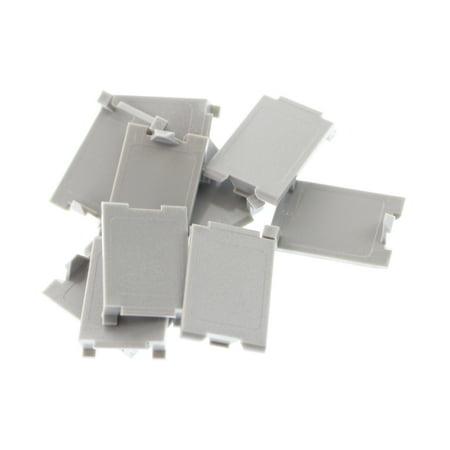 Siemon MX-BL-04 Max-Module Blank Filler Insert, Gray, (10 Pack)