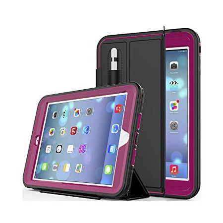 New iPad 9.7 2018/2017 CASE with Pencil Holder By BronteTech- Heavy Duty with Three Layer Protection - Shockproof - iPad 6th/5th Gen. ( Model A1893/A1954/A1822/A1823) - image 7 de 7