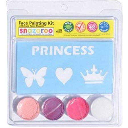 - Princess Heart Butterfly Face Paint Kit with Stencils, Easy To Use By Snazaroo Ship from US