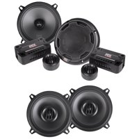 "Pair MTX THUNDER51 5.25"" 360w Car Component Speakers+(2) 5.25"" Coaxial Speakers"