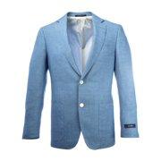 Pal Zileri Men's Vintage Worn Two Button Blazer IT 48R Blue
