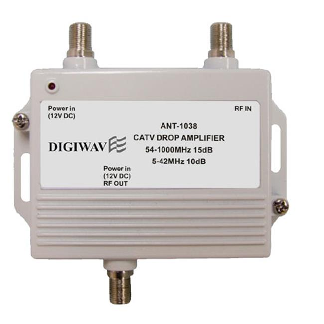 Homevision Technology ANT1038 High Quality CATV Super Drop Amplifier with Power Adapter 5-1000MHZ