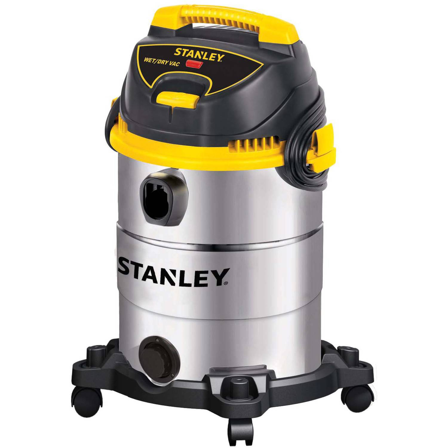 Stanley 6-gallon, 4.5-peak horse power, Stainless Steel, wet dry vacuum