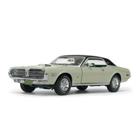 1968 Mercury Cougar XR7G Seafoam Green with Black Top 1/18 Diecast Model Car by - Cougar Black Green