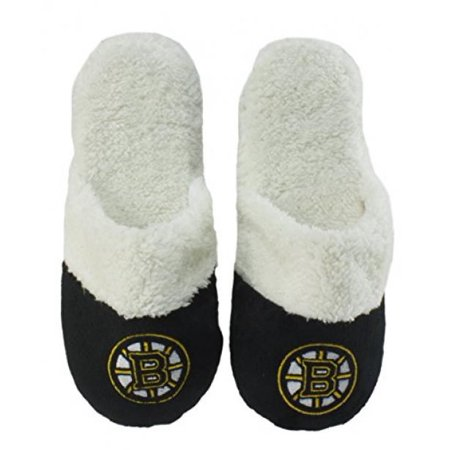 Forever Collectibles NHL Boston Bruins Womens Sherpa Slide Slippers - X-Large