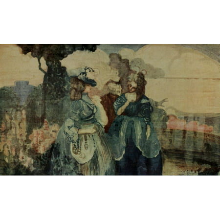 Image of The Studio 1915 Colloque Sentimentale Canvas Art - Charles Conder (24 x 36)