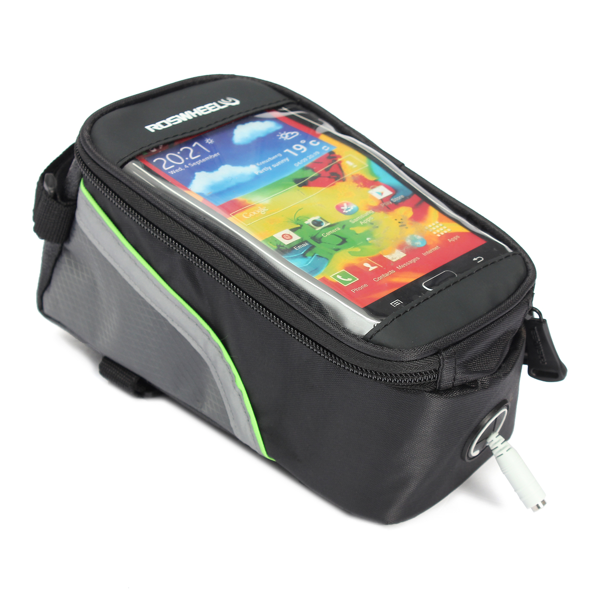 """Roswheel Waterproof Bike Frame Bag Bicycle Touch Screen Phone Holder 5.5/"""" /&Cable"""