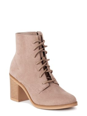 Time and Tru Lace Up Heel Bootie (Women's)