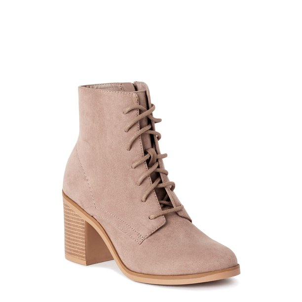 Time and Tru - Time and Tru Lace Up Heel Bootie (Women