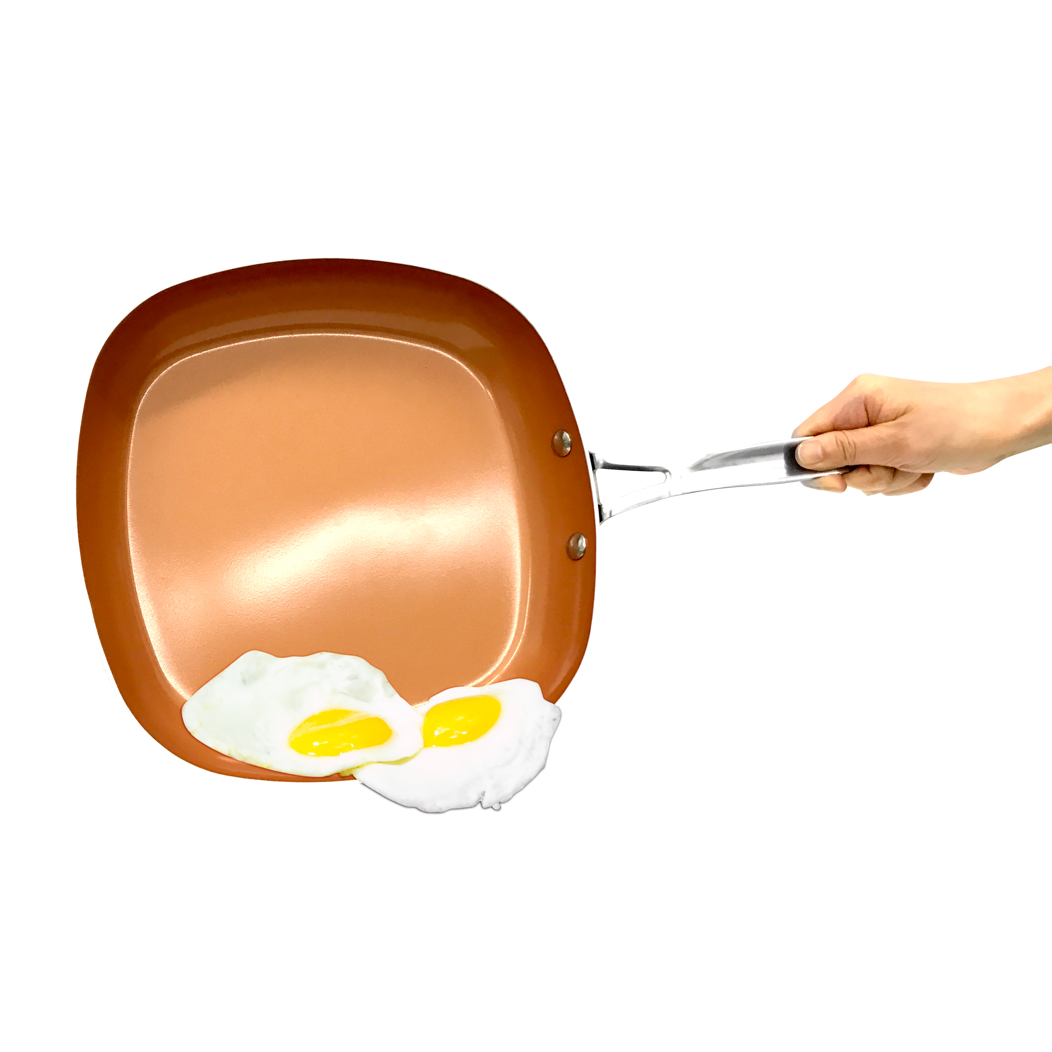 "Gotham Steel 9.5"" Copper Square Frying Pan, 1 Each"